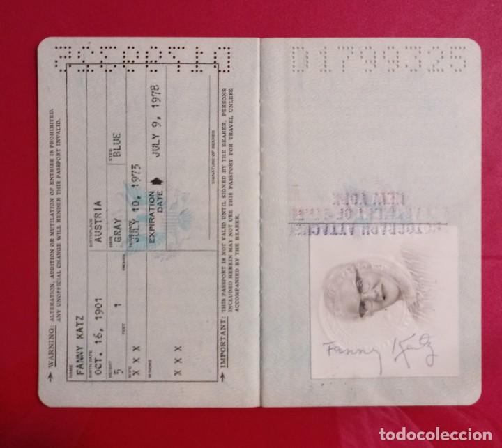 Documentos antiguos: Pasaporte de USA 1973, passport,passeport,reisepass - Foto 5 - 222077338
