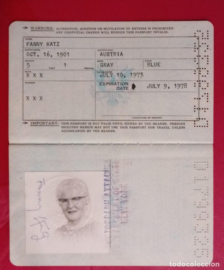Documentos antiguos: Pasaporte de USA 1973, passport,passeport,reisepass - Foto 6 - 222077338