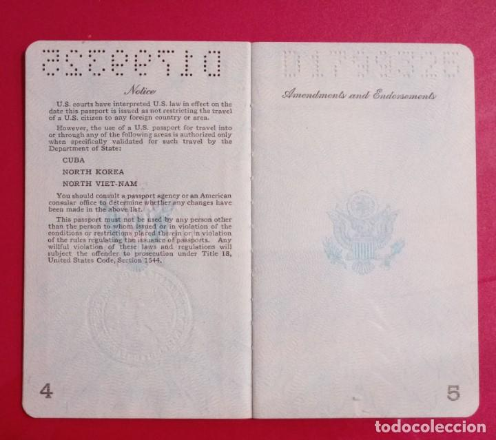 Documentos antiguos: Pasaporte de USA 1973, passport,passeport,reisepass - Foto 7 - 222077338