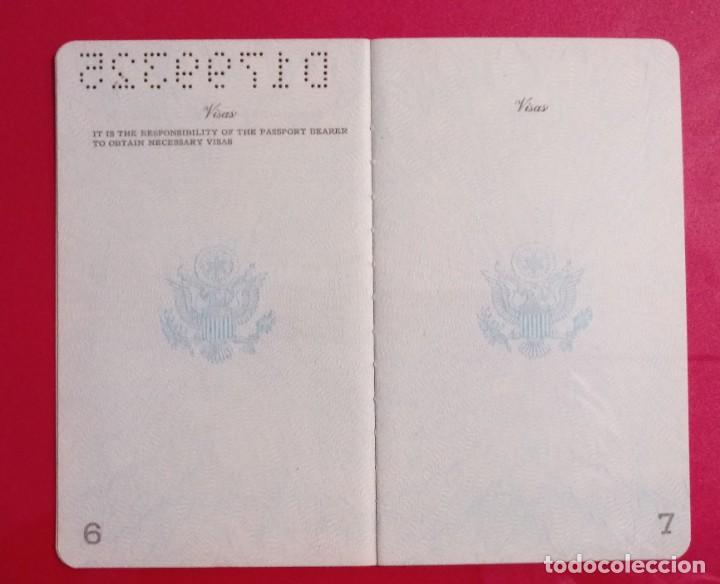 Documentos antiguos: Pasaporte de USA 1973, passport,passeport,reisepass - Foto 8 - 222077338