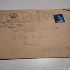 Documentos antiguos: SOBRE MOTO-CLUB VILLANUEVA DE CASTELLÓN. Lote 222083200
