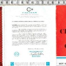 Documentos antiguos: CERTIFICADO DE GARANTIA TORNILLO DE MESA ACESA - 1975.. Lote 222084505