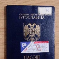 Documentos antiguos: PASAPORTE DE YUGOSLAVIA 2000, PASSPORT,PASSEPORT,REISEPASS. Lote 222187656