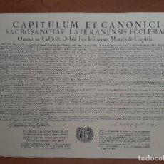 Documentos antiguos: REPRODUCCIÓN DEL TEXTO CAPITULUM ET CANONICI - VILANOVA I LA GELTRÚ /EN CATALÁN. Lote 222191897