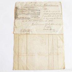 Documentos antiguos: DOCUMENTOS Y RECIBOS DE LA CONTRIBUCIÓN DE LA MINA SUERTE DE HIENDELAENCINA. GUADALAJARA 1872. Lote 222407797