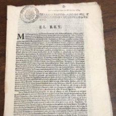 Documentos antiguos: CEDULA REAL SOBRE PLEITO ENTRE PROMOTOR FISCAL Y ANDRES GARCIA DE VALMASEDA SOBRE ARBITRIOS. 1684. Lote 222450700