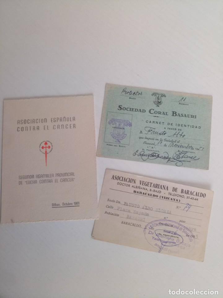 LOTE CARNETS BILBAO VEGETARIANOS, CÁNCER, CORAL BARACALDO (Coleccionismo - Documentos - Otros documentos)