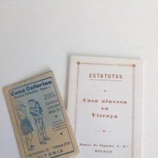 Documentos antiguos: LOTE LIBRETO CASA ALAVESA VIZCAYA VITORIA CADA CEFERINO. Lote 222539088