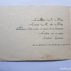 Documentos antiguos: INVITACION A CASAMIENTO, BODA. INVITATION TO WEDDING INVITATION AU MARIAGE 1963. Lote 222617491