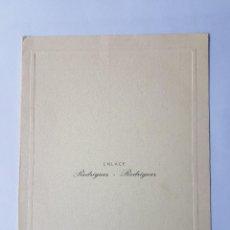 Documentos antiguos: INVITACION A CASAMIENTO, BODA. INVITATION TO WEDDING INVITATION AU MARIAGE 1961. Lote 222617496