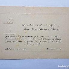 Documentos antiguos: PARTICIPACION A UNA BODA, PARTICIPATION TO A WEDDING, MARIAGE, 1977. Lote 222617525