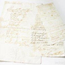 Documentos antiguos: DOCUMENTOS DE CUENTAS PORTUGUESES DEL SIGLO XVIII. PORTO. 1775 1776. POSIBLEMENTE DE TEJIDOS. Lote 222625386