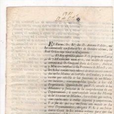 Documentos antiguos: ORDEN REAL SOBRE EXCESOS COMETIDOS EN MONTES DE LA VILLA DE CASULAS. MOTRIL, GRANADA. 1785. Lote 222641193
