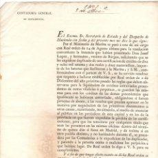 Documentos antiguos: REAL ORDEN SOBRE REGULACION DE CREDITOS. SOLICITUD DE VECINOS DE BURGOS SOBRE CREDITO DE BETUNES. Lote 222653996