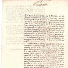 Documentos antiguos: REAL ORDEN SOBRE REGULACION DE TEATROS DEL REINO. 1815. Lote 222654780
