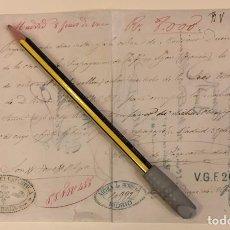 Documentos antiguos: PAGARE A MONSIEUR DUCRET LYON FRANCIA PARA LA PROPAGACION DE LA FE MADRID 1867. Lote 222811555