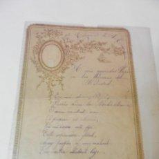 Documentos antiguos: CARTA ANTIGUA CON RELIEVE DORADO NAVIDADES DE 1902 ESCRITA EL DIA 24 DE DICIEMBRE EN BILBAO. Lote 223110366