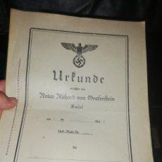 Documentos antiguos: DOCUMENTO ORIGINAL NAZI.. NO SE DE Q SE TRATA.. PERO ES COMO MUY OFICIAL... Lote 223557810