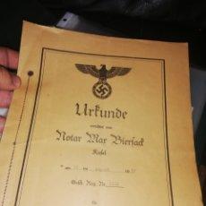 Documentos antiguos: DOCUMENTO ORIGINAL NAZI.. ALEMÁN... Lote 223557960