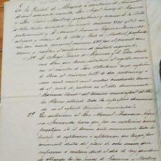 Documentos antiguos: CONTRATO DE EXPLOTACION MINA SAN ANTONIO A Dº MANUEL FCO REQUENA FERNANDEZ. ALMERIA 1890. Lote 223619095