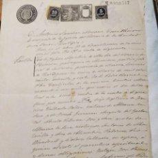 Documentos antiguos: MINERIA MURCIA. CERTIFICADO DE BAUTISMO, PADRINOS PIO WANDOSELL Y DOLORES CALVACHE. LA UNIÓN, 1898. Lote 223868698