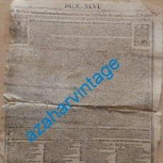 Documentos antiguos: ESPECTACULAR BULA DE LA SANTA CRUZADA, 1646, CONCEDIDA POR PAULO V Y URBANO VIII. Lote 223892151