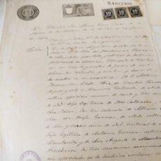 Documentos antiguos: MINERIA MURCIA/CARTAGENA. CERTIFICADO MATRIMONIO FCO CALVACHE. LA UNIÓN, 1899. Lote 223932016
