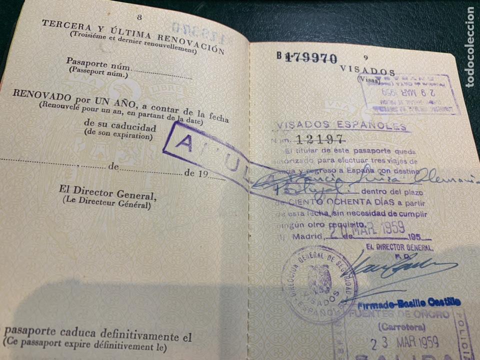 Documentos antiguos: Pasaporte España 1961 - Foto 5 - 224377520