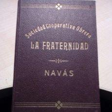 Documentos antiguos: CARNET MINI LIBRO SOCIEDAD COOPERATIVA OBRERA LA FRATERNIDAD DE NAVAS . BAGES 1935. Lote 224601361