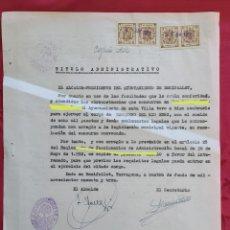Documents Anciens: TITULO ADMINISTRATIVO FIRMADO POR LORENZO VALLESPÍ VIDIELLA (BENIFALLET) NOMBRAMIENTO BARQUERO EBRO. Lote 224857036