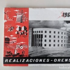 Documentos antiguos: 1960 - REALIZACIONES ORENSE - AMPLIO ESTUDIO CON FOTOGRAFIAS Y PLANOS DE ORENSE CAPITAL. Lote 224873485
