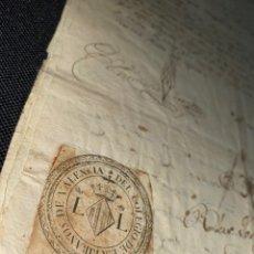 Documentos antiguos: SELLO TERCERO 1817. FIRMA MATEO CORTES DE ZALÓN. ALCALDE MAYOR DE ZARAGOZA Y RELEVANTE. SELLO VALENC. Lote 225162645
