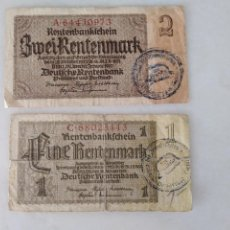 Documentos antiguos: BONITOS BILLETE ALEMANES RESELLO SEGUNDA GUERRA MUNDIAL RESELLO NAZI.. Lote 225512648