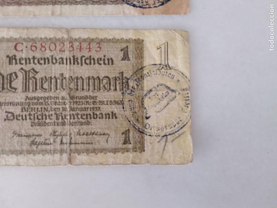 Documentos antiguos: BONITOS BILLETE ALEMANES RESELLO SEGUNDA GUERRA MUNDIAL RESELLO NAZI. - Foto 2 - 225512648