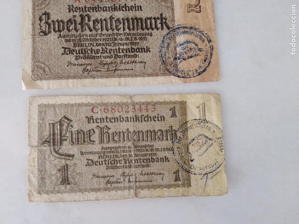 Documentos antiguos: BONITOS BILLETE ALEMANES RESELLO SEGUNDA GUERRA MUNDIAL RESELLO NAZI. - Foto 3 - 225512648