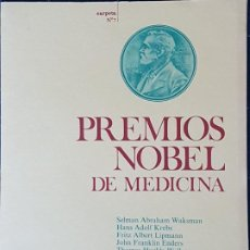 Documentos antiguos: PREMIOS NOBEL MEDICINA 10 LAMINAS CARPETA Nº 7 ED. ANTIBIOTICOS LEON S.A. 1968. Lote 226815090