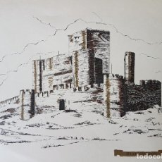 Documentos antiguos: BIAR ALICANTE CASTILLO LAMINA 35 X 26. Lote 226819060