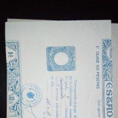 Documentos antiguos: IMPUESTOS DEL MINISTERIO DE LA GOBERNACIÓN. Lote 226922216