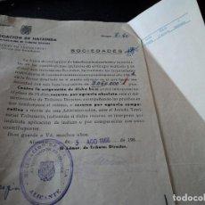Documentos antiguos: DELEGACION DE HACIENDA DE ALICANTE,IMPUESTO INDUSTRIAL, CUOTA POR BENEFICIOS, 1966. Lote 227144530