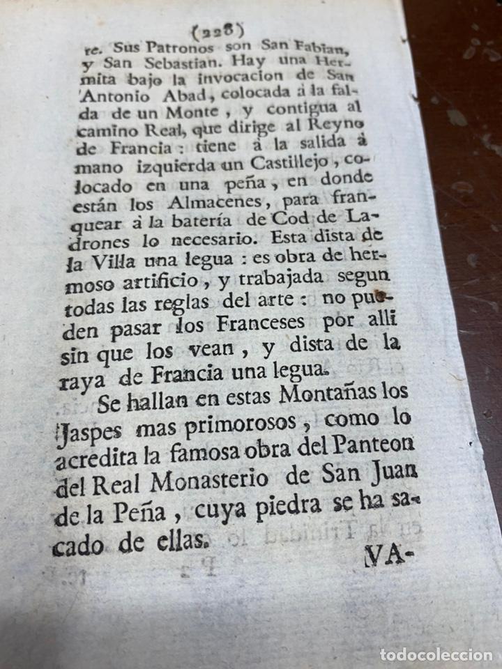 Documentos antiguos: DESCRIPCIÓN DE LA VILLA DE CANFRANC DEL AÑO 1779. IMPRESO ORIGINAL. - Foto 2 - 228038855