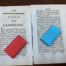 Documentos antiguos: DESCRIPCIÓN DE LA VILLA DE CANFRANC DEL AÑO 1779. IMPRESO ORIGINAL.. Lote 228038855