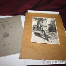 Documents Anciens: FOTOGRAFÍA Y LIBRO DE LUIS FARAUDO DE SAINT- GERMAIN. ARCHIVO PRIVADO. 1941.. Lote 228255800