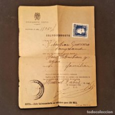 Documentos antiguos: 1940 SALVOCONDUCTO MADRID A SAN SEBASTIAN Y REGRESO UN MES.SELLO ARRIBA ESPAÑA GUERRA CIVIL. Lote 229876315