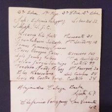 Documentos antiguos: LISTA MANUSCRITA ELEMENTOS ESCUADRA (FALANGE,CENTURIA;BANDERA) BLAS ROCASOLANO GUERRA CIVIL. Lote 229884180