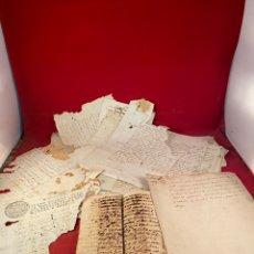 Documentos antiguos: LOTE DE DOCUMENTOS NOTARIALES MUY ANTIGUOS. Lote 284836463
