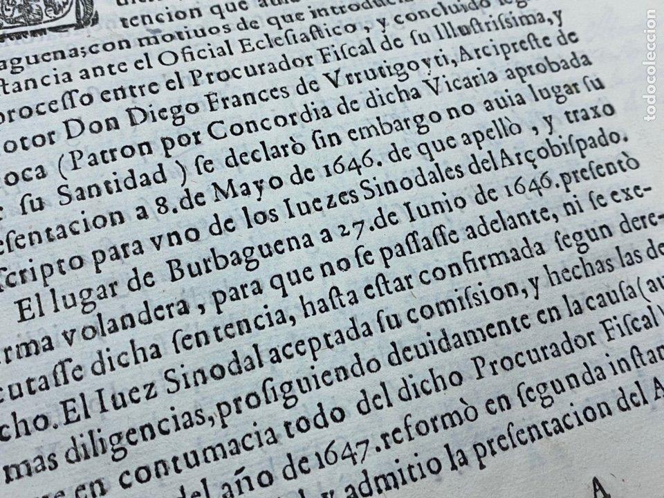 Documentos antiguos: 1647. BURBAGUENA. TERUEL. PROVISIÓN DE FIRMA ENCLAVATORIA. - Foto 3 - 230574945
