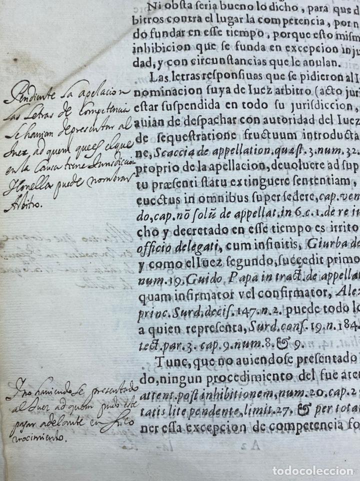 Documentos antiguos: 1647. BURBAGUENA. TERUEL. PROVISIÓN DE FIRMA ENCLAVATORIA. - Foto 5 - 230574945