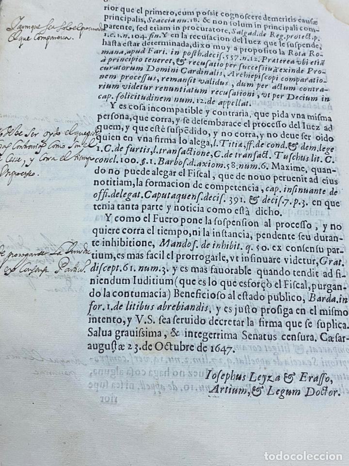Documentos antiguos: 1647. BURBAGUENA. TERUEL. PROVISIÓN DE FIRMA ENCLAVATORIA. - Foto 6 - 230574945