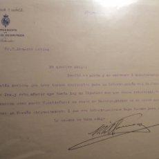 Documentos antiguos: CONGRESO DE LOS DIPUTADOS PRESIDENTE ESCRITO. Lote 230779610