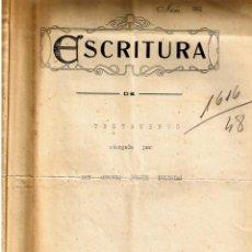 Documentos antiguos: TESTAMENTO DE ANTONIO SUAREZ IGLESIAS 1932 - HERENCIA CASA EN SAN CARLOS DE LA RAPITA 1948. Lote 230959295